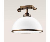 Потолочный светильник  Cremasco 384/1PL-BR-VE2-30-BI  Латунь (пр-во Италия)