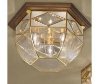 Потолочный светильник  Cremasco 3022/3PL-NO.OL.gb  Золото, орех (пр-во Италия)