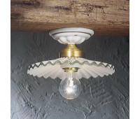 Потолочный светильник Ferroluce C086 PL Lucido Filo Colorato  Блестящая латунь, белый с декором (пр-во Италия)