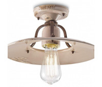 Потолочный светильник  Ferroluce C1444 VIC  Кремовый, коричневый (пр-во Италия)