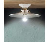 Потолочный светильник Ferroluce C104 PL  Блестящая латунь, белый (пр-во Италия)