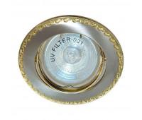 Встраиваемый светильник Feron 125T art.17780  Титан, золото (пр-во Китай)