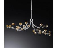Подвесной светильник IDL 371/6SL V431-3  Хром,янтпрь (пр-во Италия)