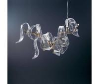 Подвесной светильник  Serip CT3389/14  Серебро, прозрачный (пр-во Португалия)
