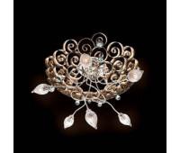 Потолочная люстра MM Lampadari 6807/P6 01  Состаренное золото и хром,изумрудный (пр-во Италия)