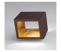 Настенно-потолочный светильник  Icone Luce CUBÒ1.5 CL+FO  Шоколадный, золотое фольгирование (пр-во Италия)
