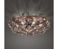 Потолочный светильник MM Lampadari 6681/P6  Состаренно черно-кирпичного и золото (пр-во Италия)