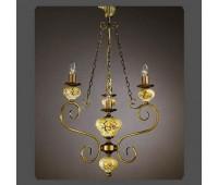 Подвесной светильник La Lampada L 1131/3+1.40 Green  Бронза (пр-во Италия)