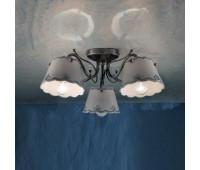 Потолочная люстра  Ferroluce C923 PL 3 Luci  Черное серебро (пр-во Италия)