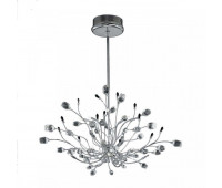 Подвесной светильник IDL 324/12S CLEAR-BL-CL-CH  Хром,прозрачный,черный (пр-во Италия)