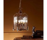 Подвесной светильник  Passeri  L. 8365/4 Dec. 038+ 02  Ржавчина, серебро (пр-во Италия)