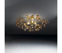 Потолочный светильник Metal Lux 205.340.06  Золото,янтарь (пр-во Италия)