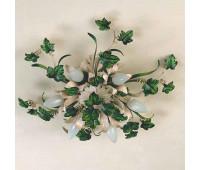 Потолочная люстра Passeri  PL.6145/6 Dec. 050  Бежевый, зеленый (пр-во Италия)