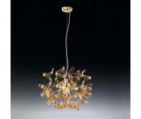 Подвесной светильник Metal Lux 205.140.06  Золото,янтарь (пр-во Италия)