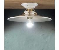 Потолочный светильник Ferroluce C105 PL  Блестящая латунь, белый (пр-во Италия)