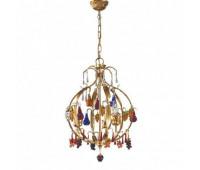 Подвесной светильник MM Lampadari 6673/3  Золотисто-бронзовый,разноцветный (пр-во Италия)