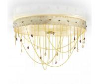 Потолочный светильник IDL 443/6PF Shiny ivory gold lacquer  Блестящие цвета слоновой кости, золотой лак (пр-во Италия)