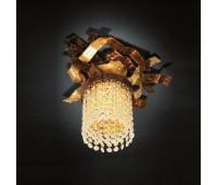 Потолочный светильник MM Lampadari 6812/P1  Золото и состаренное золото, янтарь (пр-во Италия)