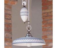 Подвесной светильник Aldo Bernardi Provenza 9915 ib  Состаренная медь (пр-во Италия)