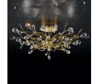 Потолочный светильник IDL 324/10PF Clear-BL-CL-GOE  Позолоченный,прозрачный (пр-во Италия)
