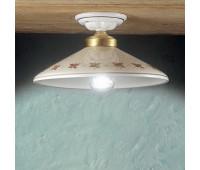 Потолочный светильник Ferroluce C058 PL  Белый, золото (пр-во Италия)