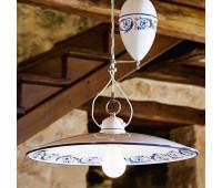 Подвесной светильник Aldo Bernardi 815.06  Белый с рисунком (пр-во Италия)