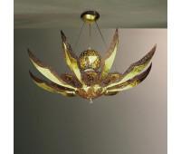 Подвесной светильник MM Lampadari 6698/18+3+2  Состаренный орех с золотом и меди,и матовой позолотой (пр-во Италия)