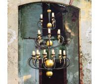 Люстра MM Lampadari 5831/12+6+3  Состаренно черный с золотом (пр-во Италия)