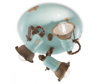 Спот  Ferroluce C1679 VIA  Винтажный голубой (пр-во Италия)