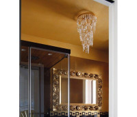 Потолочный светильник IL Paralume Marina 1701/P/OV/TR  Состаренное золото (пр-во Италия)
