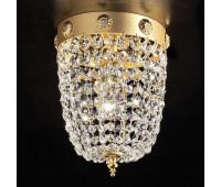 Потолочный светильник Masiero Elegantia PL1 G03-G05 6005/PL1  Матовое и блестящее золото, прозрачный (matt and shiny gold) - g03-g05 (пр-во Италия)