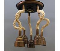 Потолочный светильник Favel 05293/00PL5  Бронза (пр-во Италия)