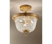 Потолочная люстра  Arizzi 649/3/PL  Состаренное французское золото (пр-во Италия)