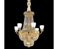 Люстра IDL 445/15 Oro 24 kt  Золотой, темно-коричневый и слоновая кость (пр-во Италия)