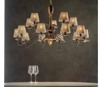 Люстра Divina  Lorenzon LL.137/R/16PA/10+5F  Черный никель, бронзовый (пр-во Италия)