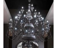 Люстра Florence Lorenzon LL.127/TSSM/16+8+4F  Черный никель, серый (пр-во Италия)