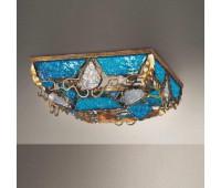 Потолочный светильник MM Lampadari 6741/P4  Темный орех с золотом (пр-во Италия)
