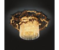 Потолочный светильник MM Lampadari 6812/P3  Золото и состаренное золото, янтарь (пр-во Италия)