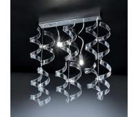 Потолочный светильник Metal Lux 206.232.01  Хром,прозрачный (пр-во Италия)