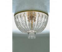 Потолочный светильник IL Paralume Marina 1807  Матовое золото, прозрачный (пр-во Италия)