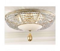 Потолочный светильник Masiero Noblesse PL6 V13 Avorio e oro (ex P01)  Цвета слоновой кости с нанесенным кистью бледно-золотым цветом p01 (пр-во Италия)