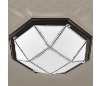 Потолочная люстра  Cremasco 969/4PL-WE.CR.dm  Хром, венге (пр-во Италия)