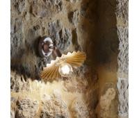 Настенно-потолочный светильник Aldo Bernardi Civetta 41.11.400/P22  Состаренная латунь (пр-во Италия)