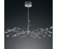 Подвесной светильник IDL 325/10S CLEAR-BL-CL-CH  Хром,прозрачный,черный (пр-во Италия)
