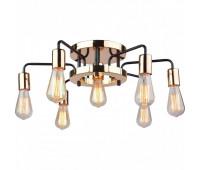 Светильник потолочный  Arte Lamp A6001PL-7BK GELO  Черный, золото (пр-во Италия)