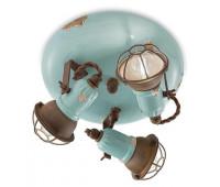 Спот  Ferroluce C1679/1 VIA  Винтажный голубой (пр-во Италия)
