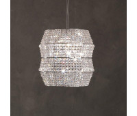 Подвесной светильник Rugiano W71/80 transparent  Хром (пр-во Италия)