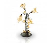 Настольная лампа Renzo Del Ventisette LVG 13952/4 DEC. 0121  Золотая фольга + коричневый (пр-во Италия)