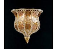 Бра   Epoca Lampadari 1406/A2V dec. 712 amber crystal  Античная, золотая фольга (пр-во Италия)