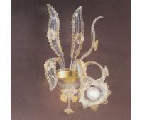 Бра IL Paralume Marina VM 323L2  Прозрачный с золотом, золото (пр-во Италия)